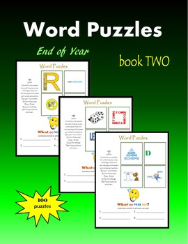 Word Puzzles:  End of Year (book TWO)