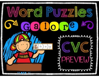 Word Puzzles Galore CVC Bundle