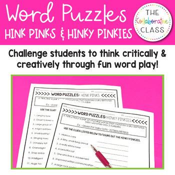 Word Puzzles: Hink Pinks & Hinky Pinkies