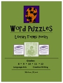 Word Puzzles:  Literary Terms - Poetry