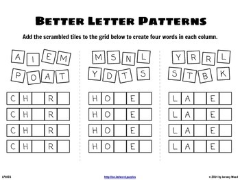 Word Puzzles (Mixed Ages)