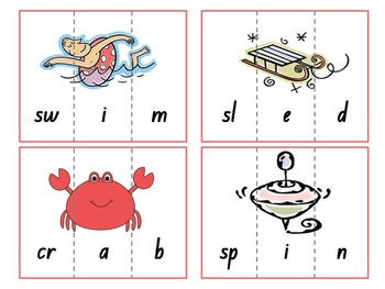 CVC, CCVC & CVCC Word Puzzles {Phonics Game}