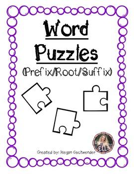 Word Puzzles (Prefix/Root/Suffix)