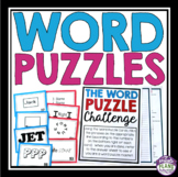 WORD PUZZLES BRAIN TEASERS