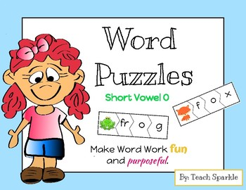 Word Puzzles (Short Vowel O Version)