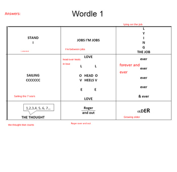 Word Puzzles for Literacy on PowerPoint- Rebus