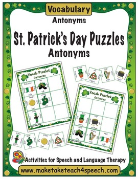 Word Puzzles for St. Patrick's Day- Antonyms