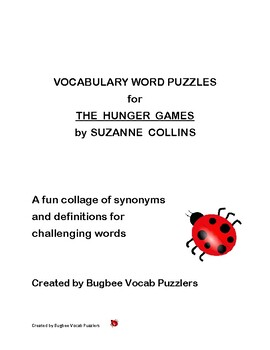 Word Puzzles for The Hunger Games by Suzanne Collins