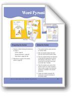 Word Pyramid (File Folder Center)