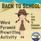 Back to School Word Pyramid PreWriting Activity