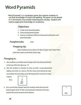 Word Pyramids vocabulary game
