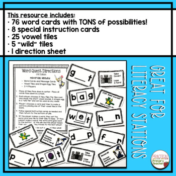 Phonics Game - CVC / Short Vowels / Blending Word Quest