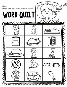 Word Quilts--CVC and CVCE Center for K-2