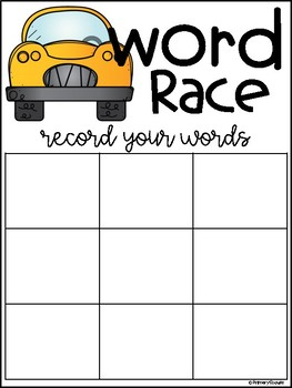 Word Race - Making Words and Letter/Sound Recognition