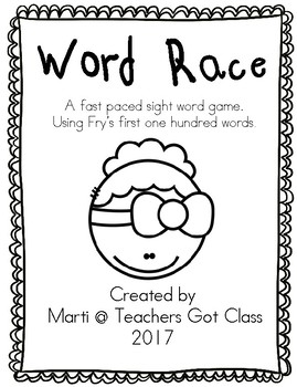 Word Race sight word game
