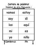 Word Race/Carrera de palabras (Spanish High-Frequency Word Game)