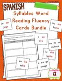 Word Fluency Reading Cards BUNDLE (Spanish)