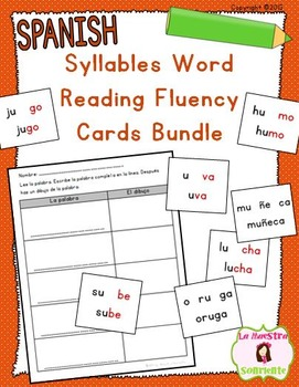 Word Fluency Reading Cards BUNDLE (Spanish)