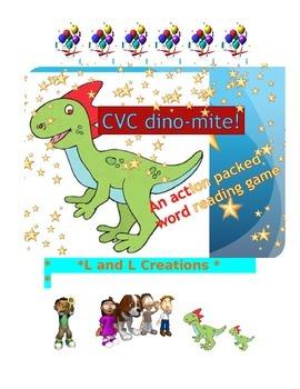 Word Reading Game: dino-mite! CVC