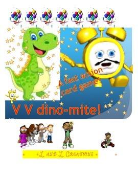 Word Reading Game: dino-mite! V V