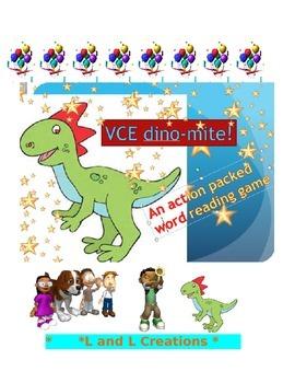 Word Reading Game: dino-mite! VCE