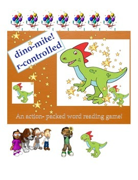 Word Reading Game: r-controlled dino-mite!