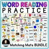 Word Reading Matching Mats Set 2 Blends Long Vowels Digraphs Phonics