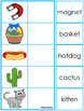 Word Reading Practice Matching Mats and NO PREP 2 Syllable