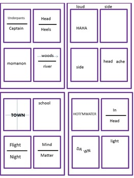"""Word """"Rebus"""" Puzzle: Task Cards, Presentation and Worksheets"""