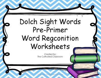 Word Recognition | Dolch Pre-Primer