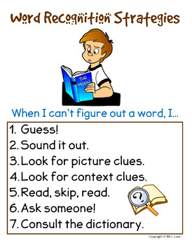 Word Recognition Strategies Poster