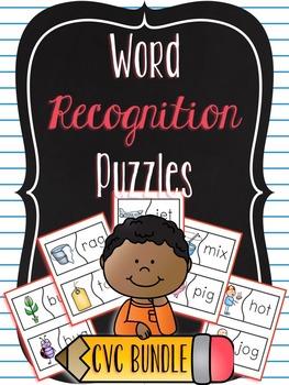 Word Recognition Puzzles BUNDLE