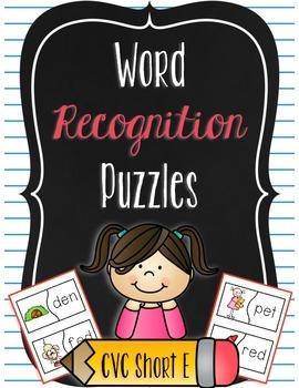 Word Recognition Puzzles - CVC Words Short E