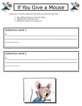 Word Recognition Worksheet