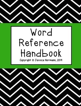 Word Reference Handbook (Writer's Notebook)