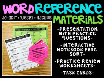 Reference materials test teaching resources teachers pay teachers word reference materials word reference materials fandeluxe Gallery