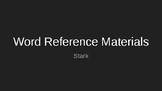 Word Reference Materials Mini Lesson