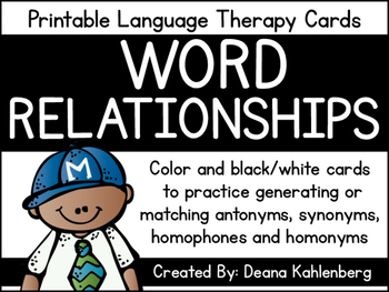 Word Relationship Cards