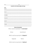 Word Relationships Summative Test