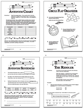 Word Relationship Worksheets & Task Cards – 5th Grade Context Clue Activities