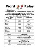 Word Relay- Greek & Latin origins