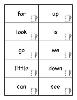 Word Ring Cards for Kindergarten