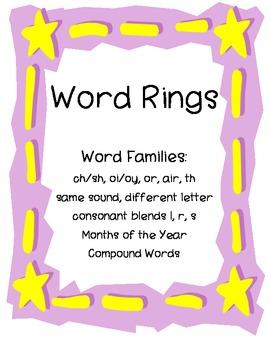 Word Rings (English)- Grade 3