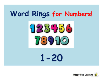 Word Rings for Numbers 1 to 20