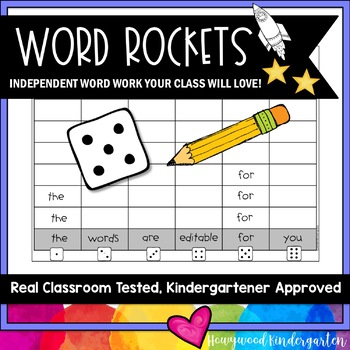 Word Rockets Spelling or Sight Word Work for ANY Words   Use All Year    SIMPLE