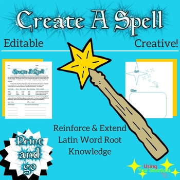 "Word Root ""Create a Spell"" Activity (EDITABLE)"