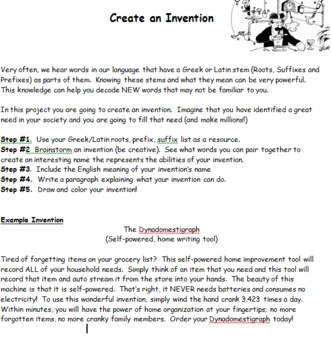 Word Root Invention