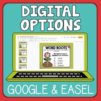 Word Root Task Cards with  Context Sentences