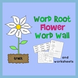 Word Root Word Wall - Flower Theme