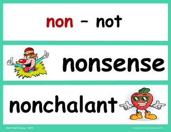 Word Roots Used as Prefixes #10 Latin Root NON